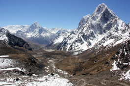Pantomimic view of Khumbu Valley