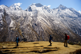 Walking through Machhermo Village of Everest Region