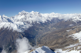 Annapurna range from Pisang peak summit.